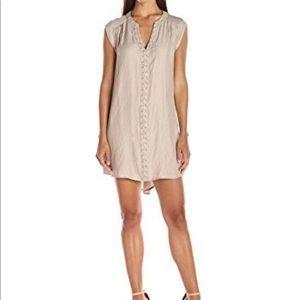 Anthropologie Greylin Dezza Grommet Sand Dress